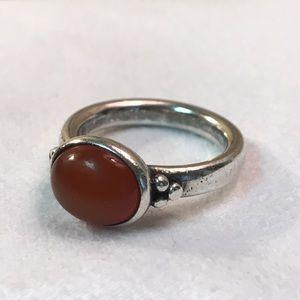 Pandora Silver Carnelian Ring